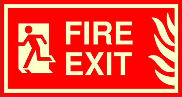 Just Signs Fire Exit Left Direction Emergency Sign